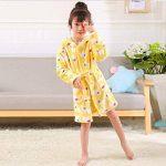 Unisexe Filles Garçons à Capuche Peignoir Doux Coral Fleece Pyjamas Enfants Chemise de Nuit Robe de Chambre Vêtements De Nuit de la marque ECHERY image 1 produit