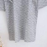 Unisexe Peignoir de Bain Douche Coton Robe de Chambre Kimono Homme Femme Chemise Vêtement de Nuit Confortable Pyjamas Yukata Lâche pour Hôtel Spa Maison Natation Khan Vapeur Sauna avec Poche Ceinture de la marque QCHOMEE image 4 produit