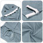URAQT Unisex Bébé Peignoir, Sortie de Bain pour Nouveauté, avec Motif Animal Animé, comme Serviette (Requin Bleu) M de la marque URAQT image 1 produit