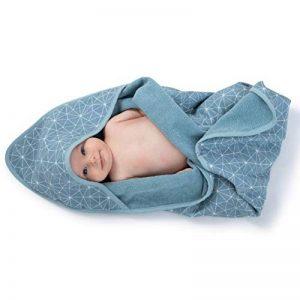 Urban Kanga Serviette de Bain Double Face pour Bébé avec Capuche en Mousseline Coton et éponge doux (Bleu) de la marque Urban-Kanga image 0 produit