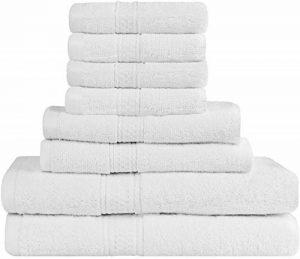 Utopia Towels - Ensemble de Serviettes de Bain en 100% Coton - 2 Serviettes de Bain, 2 essuie Main et 4 débarbouillettes (Blanc) de la marque Utopia Towels image 0 produit