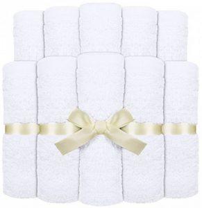 Utopia Towels - Lot de 10 lingettes lavables, Serviette bébé en Bambou - bébé débarbouillettes (25 x 25 cm, Blanc) de la marque Utopia Towels image 0 produit