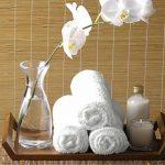 Utopia Towels - Lot de 10 lingettes lavables, Serviette bébé en Bambou - bébé débarbouillettes (25 x 25 cm, Blanc) de la marque Utopia Towels image 4 produit
