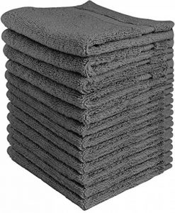 Utopia Towels - Lot de 12 gant de toilette, débarbouillettes - 30 x 30 cm, Gris de la marque Utopia Towels image 0 produit