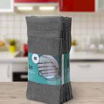 Utopia Towels - Lot de 12 gant de toilette, débarbouillettes - 30 x 30 cm, Gris de la marque Utopia Towels image 1 produit