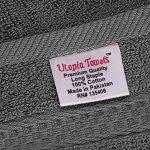 Utopia Towels - Lot de 12 gant de toilette, débarbouillettes - 30 x 30 cm, Gris de la marque Utopia Towels image 4 produit