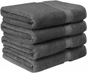 Utopia Towels - Lot de 4 Serviettes de Bain en 100% Coton - 69 x 137 cm, 600 GSM (Gris) de la marque Utopia Towels image 0 produit