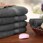Utopia Towels - Lot de 4 Serviettes de Bain en 100% Coton - 69 x 137 cm, 600 GSM (Gris) de la marque Utopia Towels image 2 produit