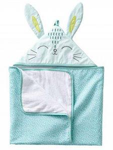 VERTBAUDET Cape de bain bébé Lapin Vert clair 70X100 de la marque Vertbaudet image 0 produit