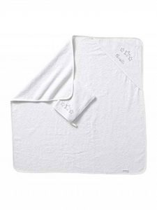 VERTBAUDET Cape de bain + gant Blanc 100X100 de la marque Vertbaudet image 0 produit