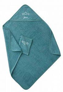 VERTBAUDET Cape de bain + gant Vert bleu 80X80 de la marque Vertbaudet image 0 produit