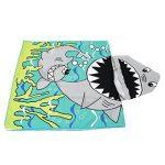 VWH Enfants Poncho à Capuche Serviettes Cartoon Garçon Fille Serviettes de Bain pour Piscine Beach (Requin #2) de la marque VWH image 1 produit