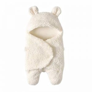 Webla(TM) Hiver Gigoteuses Couverture Chaud Hiver Gigoteuse D'emmaillotage avec Pieds Séparé Bébé Fille Garçon en Coton Nids D'ange Sac de Couchage à capuche (Blanc) de la marque Webla(TM) image 0 produit
