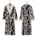Women's Hiver Peignoir Mode Loisirs Flanelle Pyjamas Jacquard épais Longue Robe de Nuit de la marque OMFGOD image 1 produit