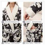 Women's Hiver Peignoir Mode Loisirs Flanelle Pyjamas Jacquard épais Longue Robe de Nuit de la marque OMFGOD image 2 produit
