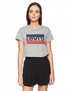 Women's Perfect Graphic Tee Shirt, Sportswear Logo Smokestack Heather, X-Small de la marque Levis image 0 produit