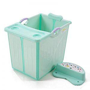 WSJTT Baignoire for bébé Portable Pliable Baignoire Baignoire Bassin de Douche Pliable Confortable Se Pliant Baignoire for bébé Bain Seau Enfant Bassin de baignade Peut s'asseoir (Color : Green) de la marque WSJTT image 0 produit
