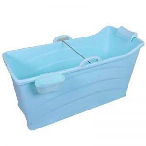 Xingxing Baignoire Pliante for Adultes Baignoire Pliante en Plastique portative for Enfants Rose, Bleu (Color : Blue) de la marque Xingxing image 0 produit
