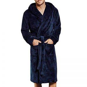 Xmiral Peignoir Homme Grand Taille Corail Velours Pyjama Manches Longues de la marque Xmiral image 0 produit