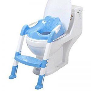 Xuxuou Reducteur de Toilette avec échelle Marches,Siège de Toilette Enfant Pliable et Réglable,Anti-dérapant de la marque Xuxuou image 0 produit