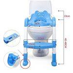 Xuxuou Reducteur de Toilette avec échelle Marches,Siège de Toilette Enfant Pliable et Réglable,Anti-dérapant de la marque Xuxuou image 1 produit
