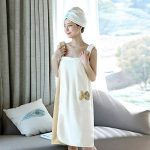 YJZQ Robe de Bain pour Femme Serviette sans Bandeau Cheveux Serviette de Bain Peignoir de Douche Peignoir éponge Séchage Rapide pour Baigner Sauna de la marque YJZQ image 2 produit
