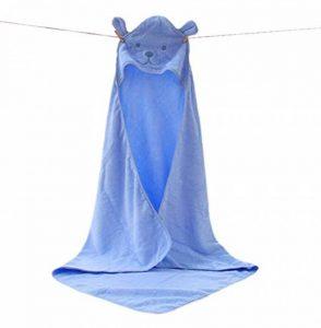 Zedtom Serviette de bain à capuche Peignoir Sortie de Bain Couverture en Coton Imprimé Forme Ours pour Bébé - 100x100cm de la marque Zedtom image 0 produit