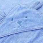 Zedtom Serviette de bain à capuche Peignoir Sortie de Bain Couverture en Coton Imprimé Forme Ours pour Bébé - 100x100cm de la marque Zedtom image 2 produit