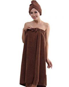 ZiXing Femme Serviette de Bain Peignoir de Douche Serviette à Cheveux en Coton Séchage Rapide pour Prendre le Bain et Sauna de la marque ZiXing image 0 produit
