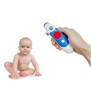 ZLMI Thermomètre Auriculaire Bébé Et Adulte Front Médical Et Thermomètre Infrarouge Précision Fièvre Instantanée Avertissement Surveillance Clinique Thermomètre Auriculaire Multi-Fonction (Bleu) de la marque ZLMI image 0 produit