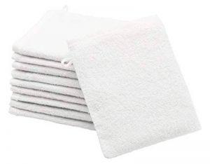 ZOLLNER 10 Gant de Toilette, Coton, Blanc (Autres Disponibles), 16x21 cm de la marque ZOLLNER image 0 produit