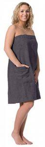 ZOLLNER paréo de Sauna pour Femme, Coton, Gris L/XL (Autres Disponibles) de la marque ZOLLNER image 0 produit