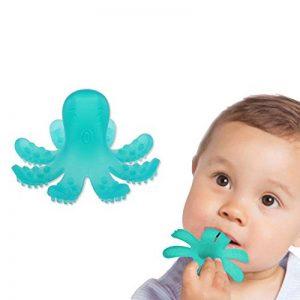 ZOSHING Jouets de Dentition,Anneau Dentition Bebe - Poulpe Jouet de Dentition et Silicone 100% sans BPA (Vert) de la marque ZOSHING image 0 produit