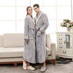 ZYUEER Peignoir De Bain Femme Homme Couple, Robes Peignoir à Capuche Chaud Couleur Unie de la marque ZYUEER image 2 produit