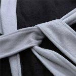 ZYUEER Peignoir De Bain Homme Grande Taille, Hiver Longue Mode Pas Cher de la marque ZYUEER image 4 produit